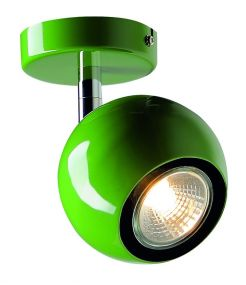 applique et plafonnier vert LIGHT EYE 1 GU10 max 50W