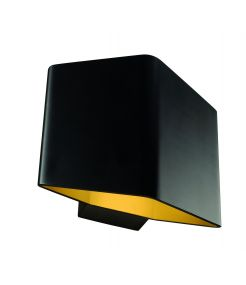 applique CARISO 1 noir/laiton LED 76W 3000K