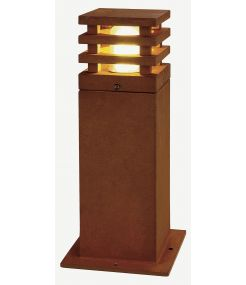 borne fonte rouillée RUSTY LED 40 CARRE LED 3000K IP55