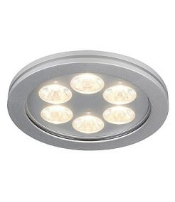 Spot led rond Eyedown led 6x1w blanc chaud