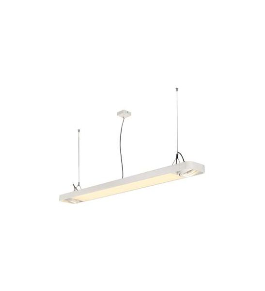 AIXLIGHT R2 OFFICE LED, suspension blanche LED + 2xES111, max. 75W