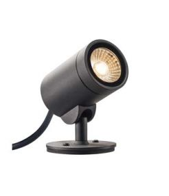 projecteur exterieur HELIA LED, anthracite, LED 8W 3000K, 35 degres, IP55