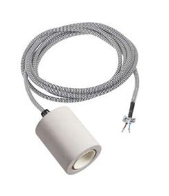 FITU E27 suspension, beton, cable nu 2,5m, max. 60W
