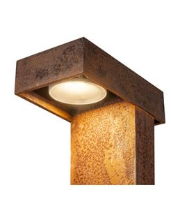 LED RUSTY PATHLIGHT 40, borne en rouille, LED 8,9W 3000K, IP55