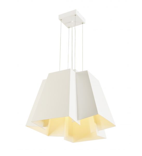 SOBERBIA 53, suspension, carree, blanche, LED 38W, 2700K, 4000lm
