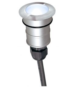 POWER TRAIL-LITE rond, inox 316, 1W LED 4000K, IP67