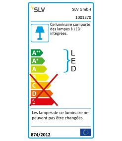 SPOT T LED, blanc, 34W, 3000K, 3100lm, adaptateur 3 all inclus