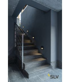 DOWNUNDER OUT, encastré mural extérieur carré, anthracite, LED 4,5W, 3000/4000K, IP65