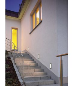 Brick led 16 inox, led blanc chaud