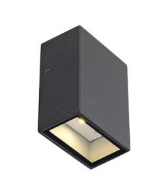 APPLIQUE QUAD 1, CARREE ANTHRACITE, LED BLANC CHAUD 4.6W