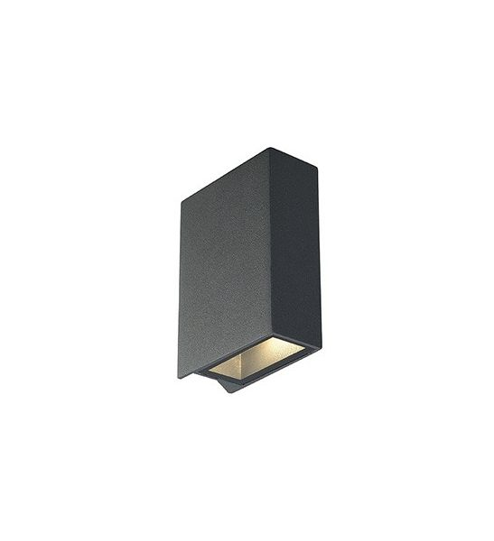 QUAD 2, APPLIQUE CARREE, ANTHRACITE, LED BLANC CHAUD 2x3W