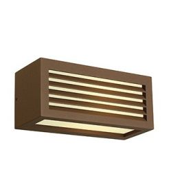 APPLIQUE BOX-L E27 CARREE FONTE ROUILLEE, E27, max. 18W